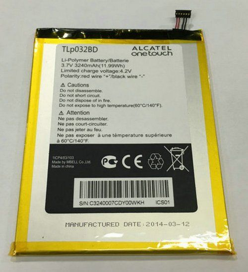 Аккумулятор Alcatel P310X One Touch Pop 7 (TLp032B2) Оригинал